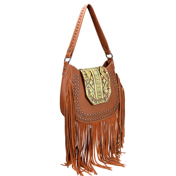 Aureispina Fringe Hobo Bag - Montana West World