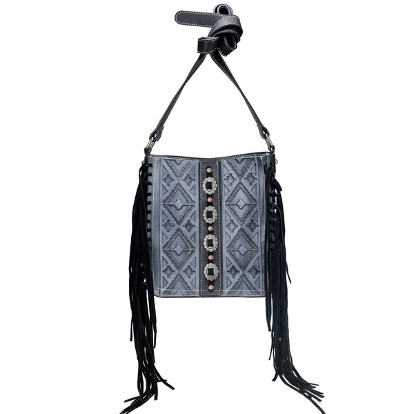 TR106G-9360 Trinity Ranch Fringe Collection Concealed Carry Crossbody Bag - Montana West World