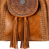 TR109-8275 Trinity Ranch Tooled Leather Collection Concealed Carry Hobo/Crossbody - Montana West World