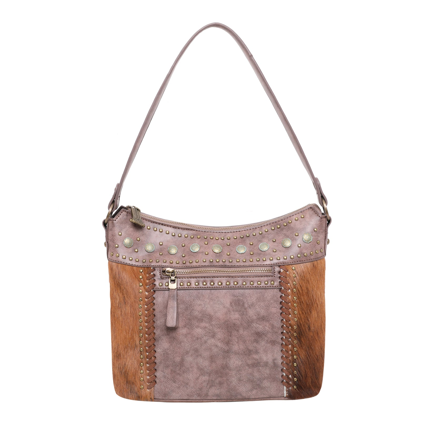 Brass Cowhide Concealed Carry Bag