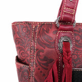 Akebia Concho Concealed Carry Wide Tote - Montana West World