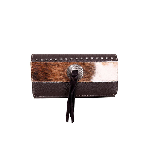 TR115-W018 Trinity Ranch Hair-On Collection Secretary Style Wallet