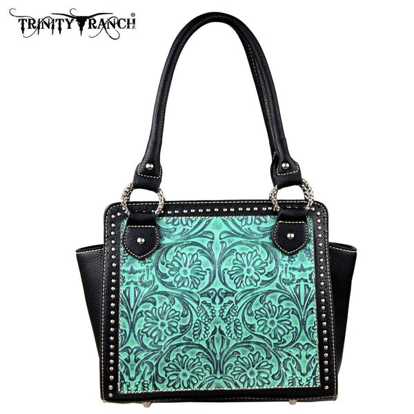 TR18-L8250 Trinity Ranch Tooled Design Collection Handbag - Montana West World