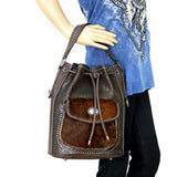 TR40-8108 Trinity Ranch Hair-On Leather Collection Hobo