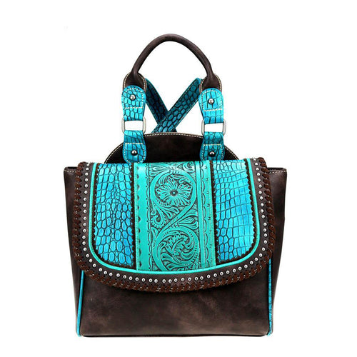 TR69-9210 Trinity Ranch Tooled Leather Collection Backpack
