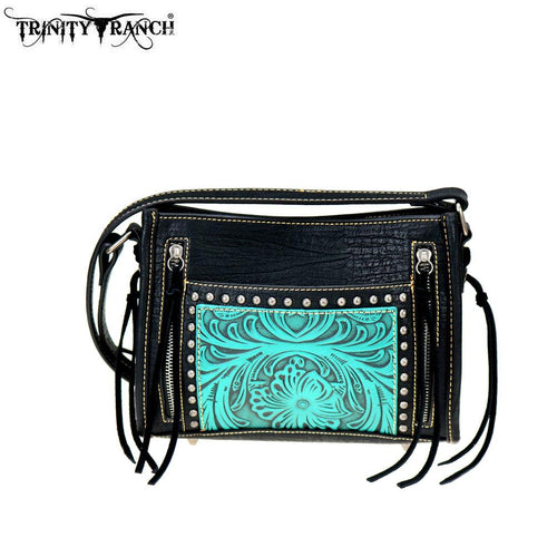 TR72-8360 Trinity Ranch Tooled Leather Collection Crossbody - Montana West World