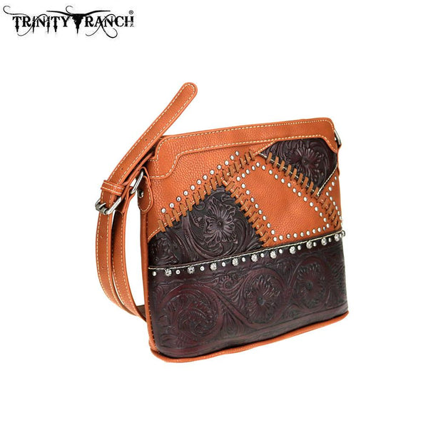TR74-8360 Trinity Ranch Tooled Leather Collection Crossbody - Montana West World