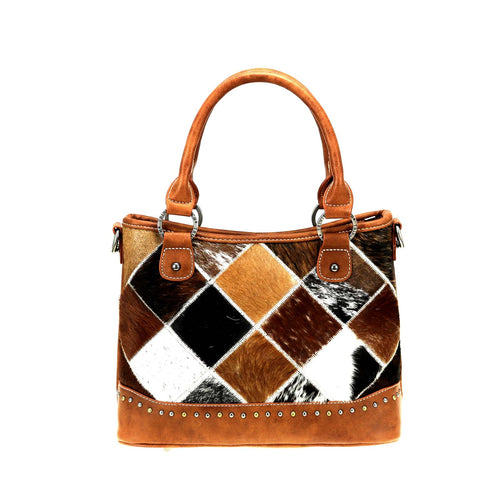 TR88-8461 Trinity Ranch Hair-On Cowhide Leather Collection Tote/Crossbody - Montana West World