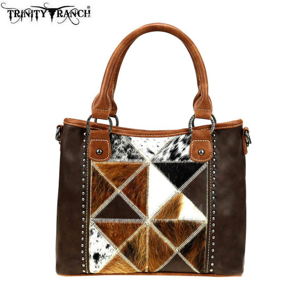 TR92-8240 Trinity Ranch Tooled Leather Collection Satchel/Crossbody - Montana West World