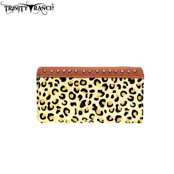 TR96-W010 Trinity Ranch Hair-On Collection Secretary Style Wallet - Montana West World