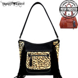 TR96G-918 Trinity Ranch Hair-On Leather Collection Concealed Handgun Hobo Bag - Montana West World