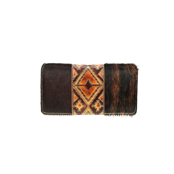 TR97-W010 Trinity Ranch Hair-On Collection Secretary Style Wallet