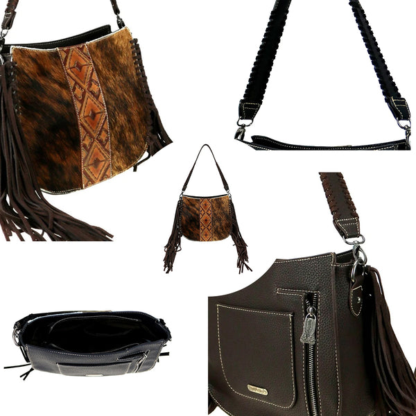 Plumosa Fringe Concealed Carry Hobo Bag - Montana West World
