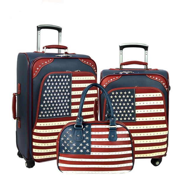 American Pride Luggage Set -Navy - Montana West World