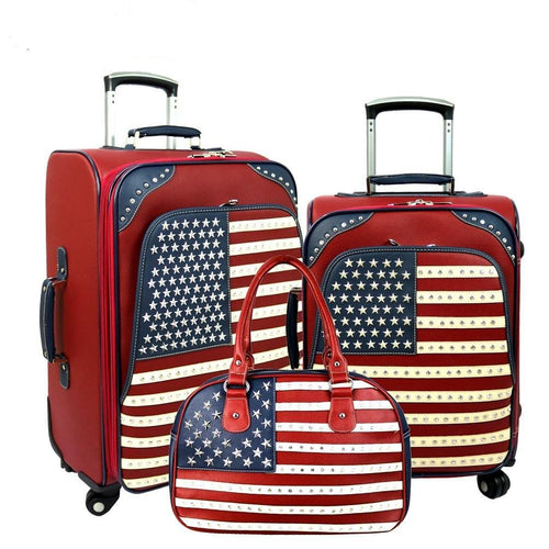 American Pride Luggage Set -Red - Montana West World