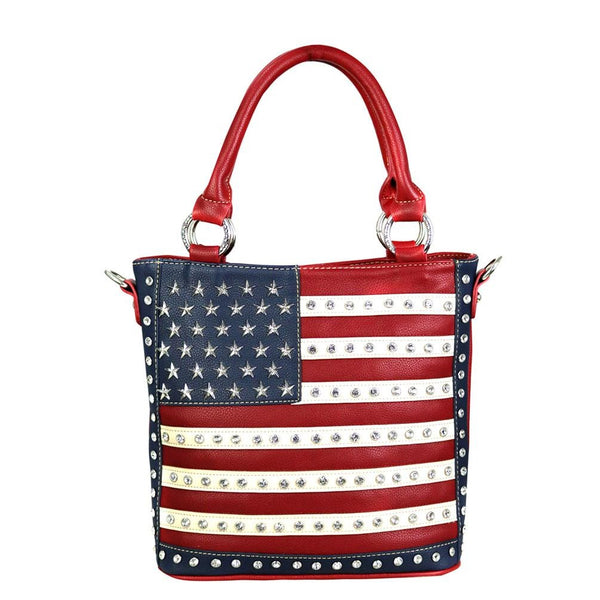US04G-8461 Montana West American Pride Concealed Carry Tote/Crossbody - Montana West World