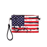 American Flag Canvas Clutch - Montana West World