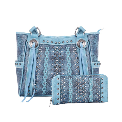 ABZ-G017 Handbag and Wallet Set - Montana West World