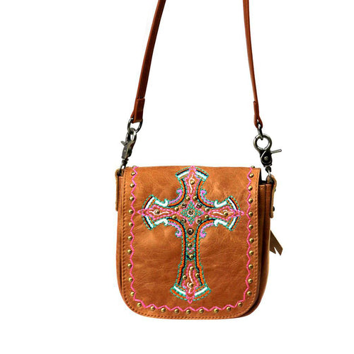 Crassula Embroidered Crossbody Bag - Montana West World