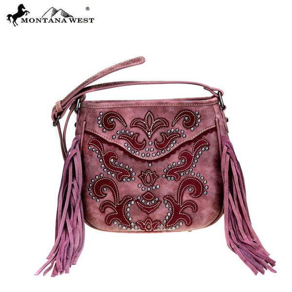 MW383-8360 Montana West Fringe Collection Crossbody