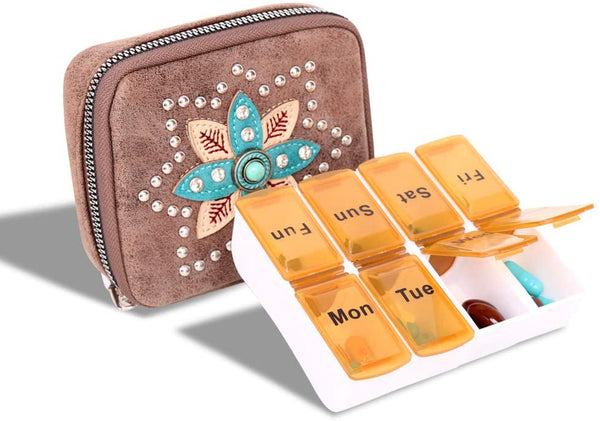 Pill Box Case Supplements and Medication - Montana West World