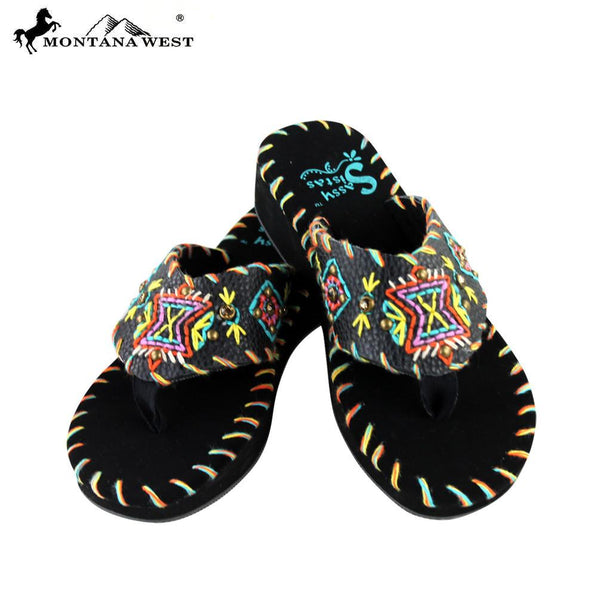 SS-S008  Delila Collection Flip Flops By Size - Montana West World