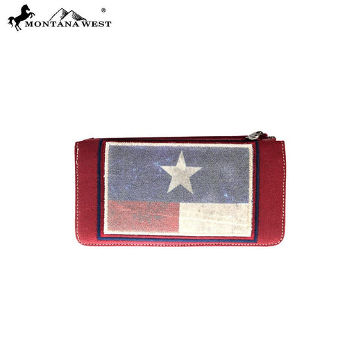 TX17-W021 Montana West Patriotic Collection Wallet - Montana West World