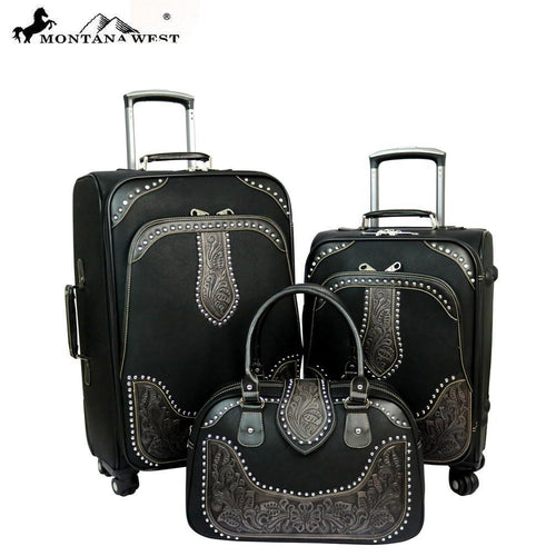 Celandine Luggage Set-Black - Montana West World
