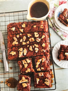 Gluten and Dairy Free Date and Walnut Traybake