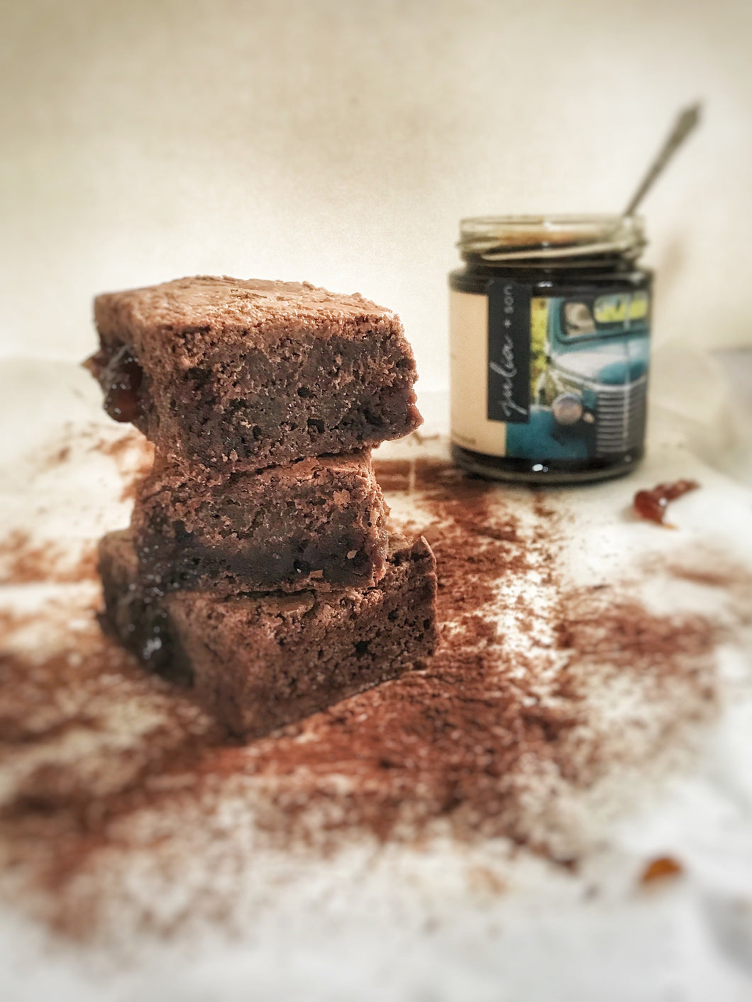 Award Winning Gluten, Wheat + Dairy Free Seville Marmalade Brownies - Julia + son