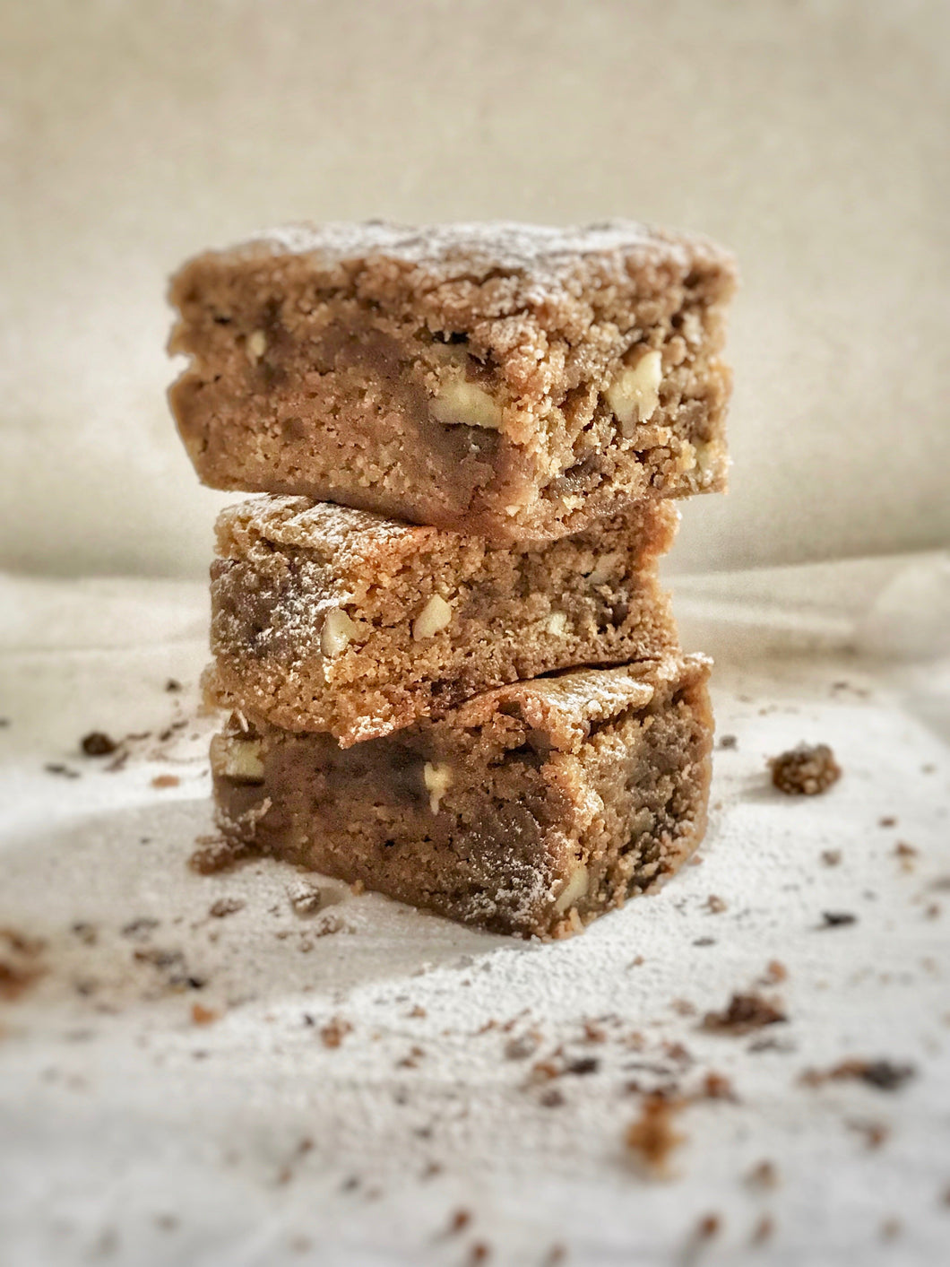 Gluten, Wheat and Dairy Free Pecan Nut Blondies - Julia + son