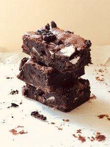 Gluten Free and Dairy Free Oreo Chocolate Brownies - Julia + son