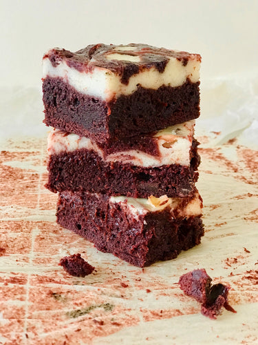 Red Velvet Cheesecake Brownies - Julia + son