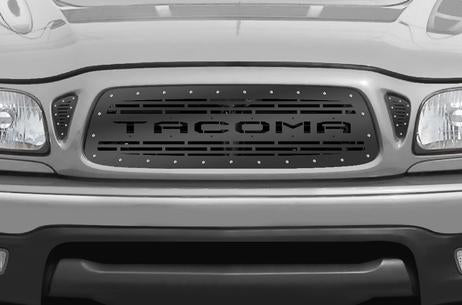 Toyota Tacoma Steel Grill ('01-'04) TACOMA Logo v2 - RacerX Customs | Truck Graphics, Grilles and Accessories