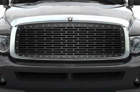 Dodge Ram Steel Grille ('02-'05) BRICK Pattern - RacerX Customs