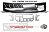 Nissan Titan Grille ('08-'14) Black Steel, AMERICAN FLAG - RacerX Customs
