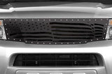 Nissan Pathfinder Grille ('08-'11) Black Steel, AMERICAN FLAG - RacerX Customs