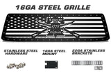 Toyota Tundra Grille ('10-'13) Black Steel - LIBERTY or DEATH - RacerX Customs