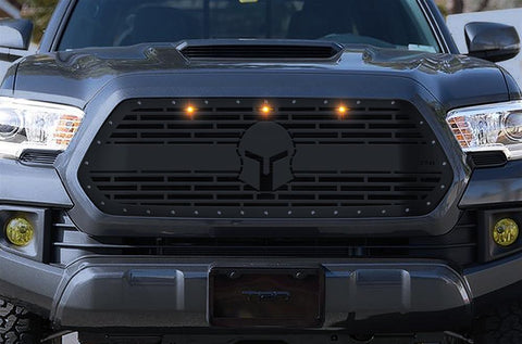 Toyota Tacoma Steel Grille ('16-'17) SPARTAN with LED Lights - RacerX Customs