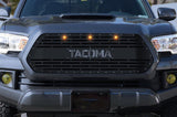 Toyota Tacoma Grille ('16-'17) Silver TACOMA v1 with LED Lights - RacerX Customs
