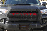 Toyota Tacoma Steel Grille ('16-'17) Red TOYOTA v3 - RacerX Customs