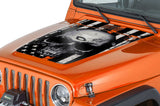 Jeep Wrangler Hood Graphics (1999-2006) THIN ORANGE LINE SKULL - RacerX Customs