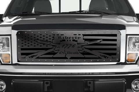 Ford F150 Custom Steel Grille ('09-'14) LIBERTY or DEATH - RacerX Customs
