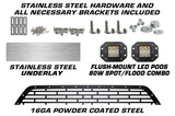 Ford F150 Grille ('09-'14) Stainless Steel FORD w/ LED Light Pods - RacerX Customs