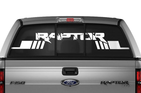 Ford Raptor Rear Window Decal Graphics (2009-2014) RAPTOR STRIPES - RacerX Customs