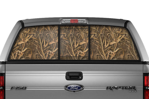 Ford F150 Rear Window Decal Graphics (2009-2014) WING CAMO - RacerX Customs