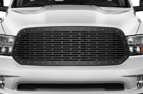 Dodge Ram Steel Grille ('13-'18) BRICK Pattern - RacerX Customs