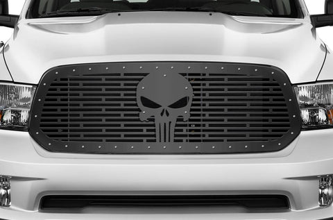 Dodge Ram Steel Grille ('13-'18) PUNISHER - RacerX Customs | Truck Graphics, Grilles and Accessories