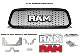 Dodge Ram Steel Grille ('13-'18) Red RAM Logo - RacerX Customs | Truck Graphics, Grilles and Accessories