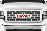 GMC Denali Grille ('14-'15) Black Steel with Red & Silver GMC - RacerX Customs